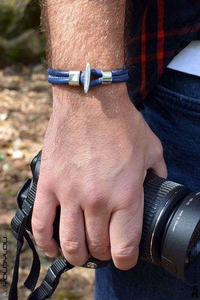 Picture of Pulseira Leather Roma Blue